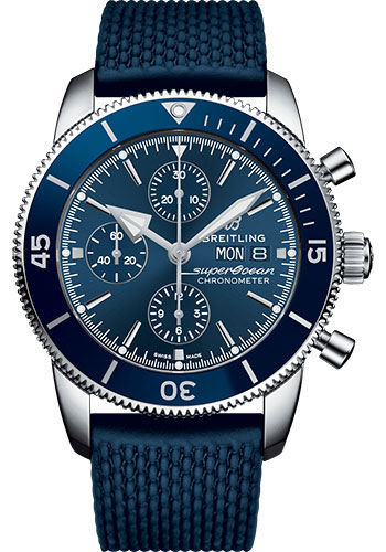 Breitling Watches - Superocean Heritage II Chronograph 44mm - Stainless Steel - Rubber Aero Classic Strap - Style No: A13313161C1S1