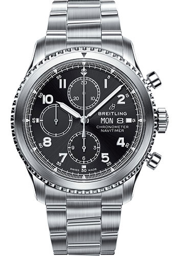 Breitling Watches - Aviator 8 Chronograph 43 Stainless Steel - Professional III Bracelet - Style No: A13314101B1A1