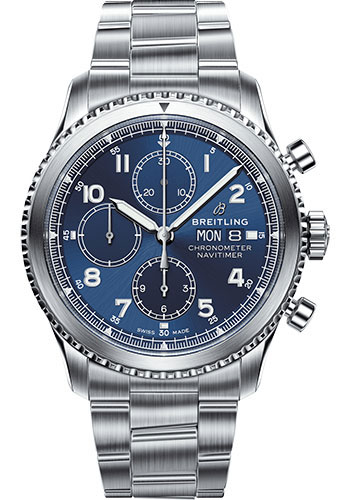 Breitling Watches - Aviator 8 Chronograph 43 Stainless Steel -Metal Bracelet - Style No: A13314101C1A1