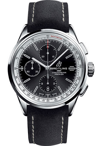 Breitling Watches - Premier Chronograph 42 Nubuck Strap - Tang - Style No: A13315351B1X2