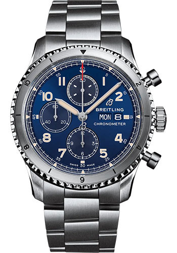 Breitling Watches - Aviator 8 Chronograph 43 Stainless Steel - Metal Bracelet - Style No: A13316101C1A1