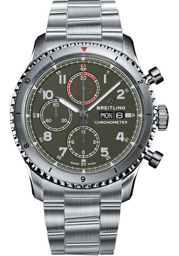 Breitling Watches - Aviator 8 Chronograph 43 Stainless Steel -Metal Bracelet - Style No: A133161A1L1A1