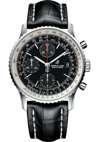 Breitling Watches - Navitimer Chronograph 41 Stainless Steel - Croco Strap - Tang - Style No: A13324121B1P1