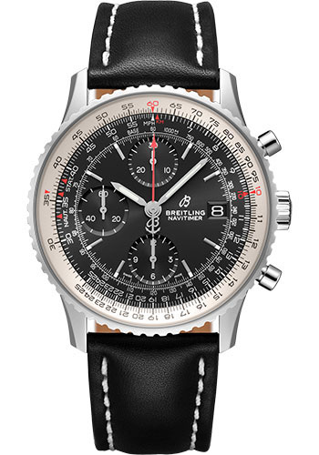 Breitling Watches - Navitimer Chronograph 41 Stainless Steel - Leather Strap - Deployant - Style No: A13324121B1X2
