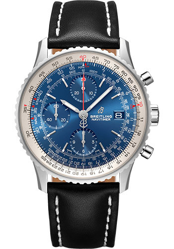 Breitling Watches - Navitimer Chronograph 41 Stainless Steel - Leather Strap - Deployant - Style No: A13324121C1X2