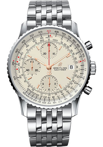 Breitling Watches - Navitimer 1 Chronograph 41mm - Stainless Steel - Pilot Bracelet - Style No: A13324121G1A1