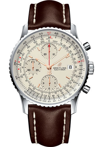 Breitling Watches - Navitimer Chronograph 41 Stainless Steel - Leather Strap - Tang - Style No: A13324121G1X1