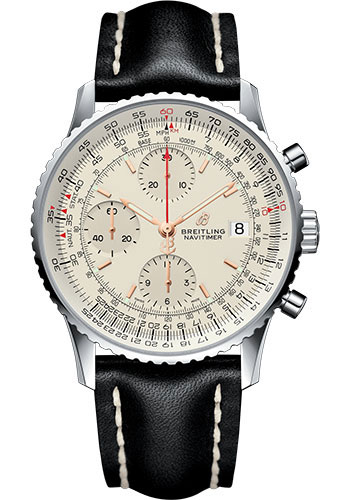 Breitling Watches - Navitimer Chronograph 41 Stainless Steel - Leather Strap - Tang - Style No: A13324121G1X2