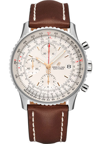 Breitling Watches - Navitimer Chronograph 41 Stainless Steel - Leather Strap - Deployant - Style No: A13324121G1X3