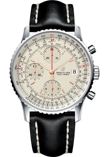 Breitling Watches - Navitimer Chronograph 41 Stainless Steel - Leather Strap - Deployant - Style No: A13324121G1X4