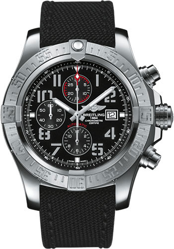 Breitling Watches - Super Avenger II Military Strap - Tang Buckle - Style No: A1337111/BC28/104W/A20BA.1