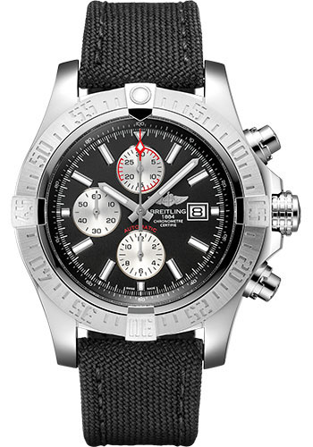 Breitling Watches - Super Avenger II Military Strap - Tang Buckle - Style No: A1337111/BC29/104W/A20BA.1