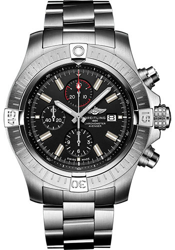 Breitling Watches - Super Avenger Chronograph 48 Stainless Steel - Metal Bracelet - Style No: A13375101B1A1