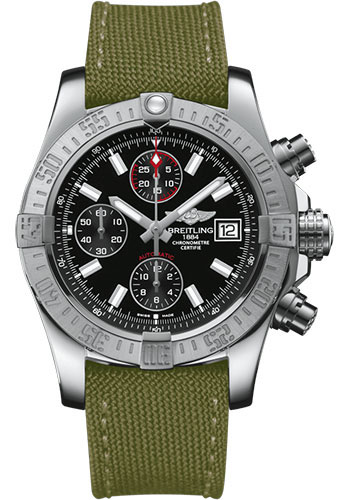 Breitling Watches - Avenger II Military Strap - Tang Buckle - Style No: A1338111/BC32/106W/A20BA.1