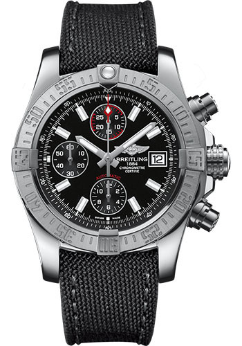 Breitling Watches - Avenger II Military Strap - Tang Buckle - Style No: A1338111/BC32-military-anthracite-tang