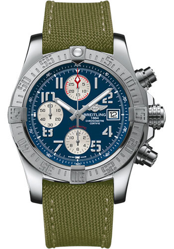 Breitling Watches - Avenger II Military Strap - Tang Buckle - Style No: A1338111/C870/106W/A20BA.1