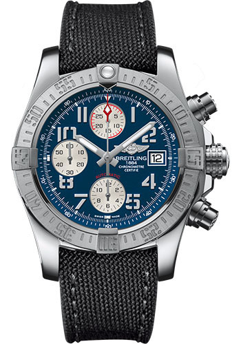 Breitling Watches - Avenger II Military Strap - Tang Buckle - Style No: A1338111/C870-military-anthracite-tang