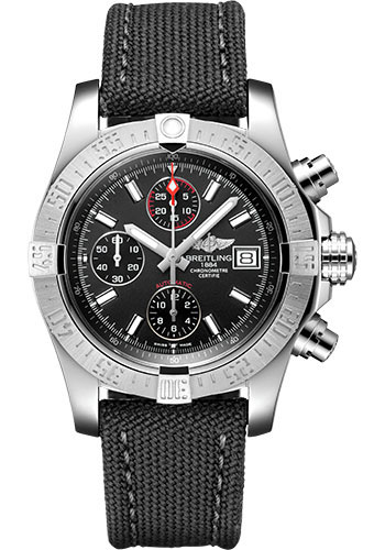 Breitling Watches - Avenger II Military Strap - Tang Buckle - Style No: A13381111B1W1
