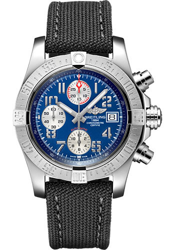 Breitling Watches - Avenger II Military Strap - Tang Buckle - Style No: A13381111C1W1