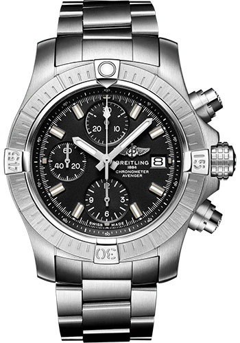 Breitling Watches - Avenger Chronograph 43 Stainless Steel - Metal Bracelet - Style No: A13385101B1A1
