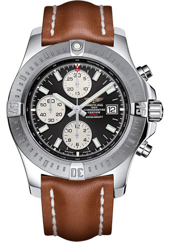 Breitling Watches - Colt Chronograph Automatic Leather Strap - Tang - Style No: A1338811/BD83/433X/A20BA.1