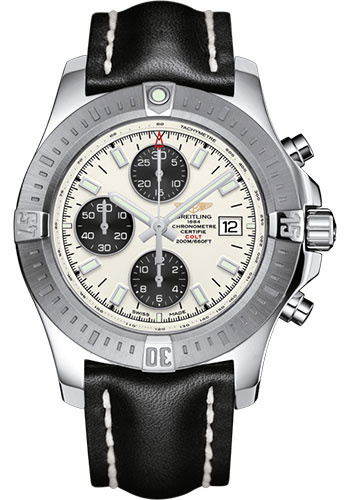 Breitling Watches - Colt Chronograph Automatic Leather Strap - Tang - Style No: A13388111G1X1
