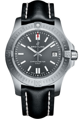 Breitling Watches - Colt Automatic 41mm - Leather Strap - Tang - Style No: A17313101F1X1