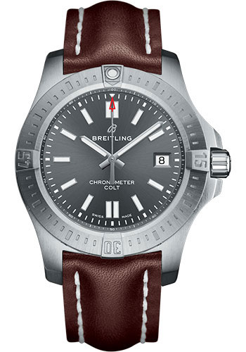 Breitling Watches - Colt Automatic 41mm - Leather Strap - Tang - Style No: A17313101F1X2