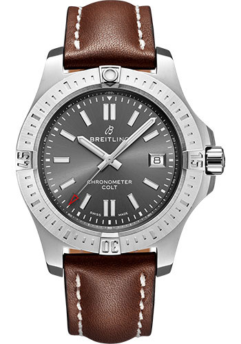Breitling Watches - Colt Automatic 41mm - Leather Strap - Deployant - Style No: A17313101F1X3