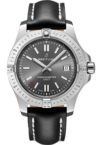 Breitling Watches - Colt Automatic 41mm - Leather Strap - Deployant - Style No: A17313101F1X4