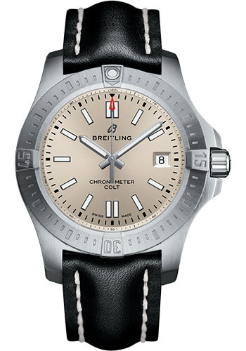 Breitling Watches - Colt Automatic 41mm - Leather Strap - Tang - Style No: A17313101G1X1