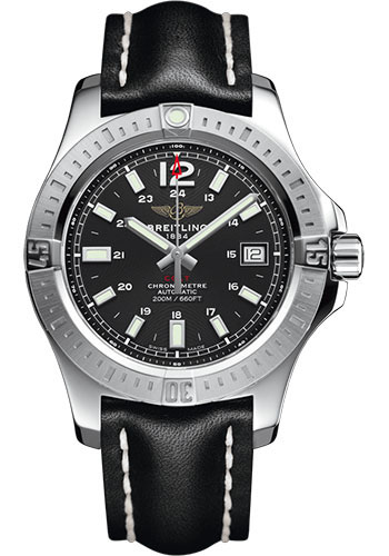 Breitling Watches - Colt Automatic 41mm - Leather Strap - Tang - Style No: A1731311/BE90/428X/A18BA.1