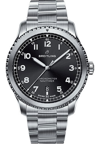 Breitling Watches - Aviator 8 Automatic 41 Stainless Steel - Metal Bracelet - Style No: A17314101B1A1