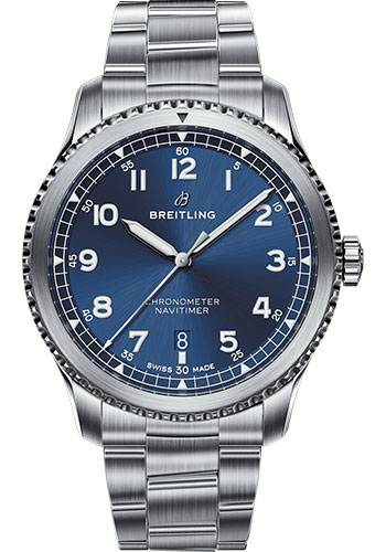 Breitling Watches - Navitimer 8 Automatic 41mm - Stainless Steel - Professional III Bracelet - Style No: A17314101C1A1