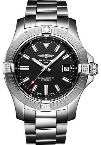 Breitling Watches - Avenger Automatic 43 Stainless Steel - Metal Bracelet - Style No: A17318101B1A1
