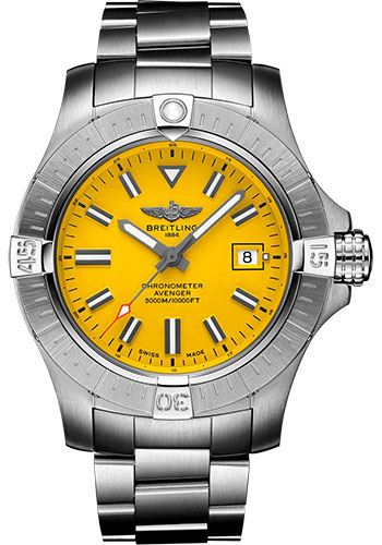Breitling Watches - Avenger Automatic 45 Seawolf Stainless Steel - Metal Bracelet - Style No: A17319101I1A1
