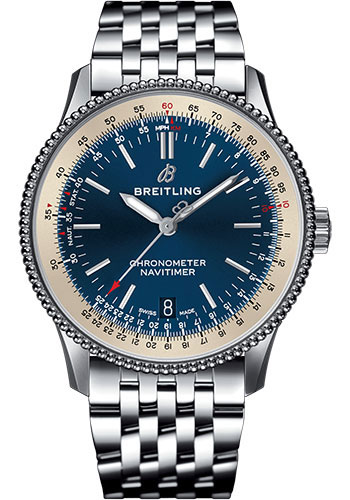 Breitling Watches - Navitimer Automatic 38mm - Stainless Steel - Navitimer Bracelet - Style No: A17325211C1A1