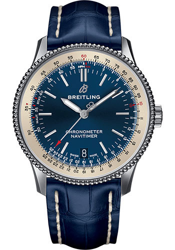 Breitling Watches - Navitimer 1 Automatic 38mm - Stainless Steel - Croco Strap - Style No: A17325211C1P1