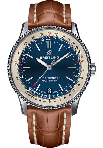 Breitling Watches - Navitimer Automatic 38mm - Stainless Steel - Croco Strap - Style No: A17325211C1P2