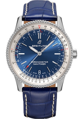 Breitling Watches - Navitimer Automatic 38mm - Stainless Steel - Croco Strap - Style No: A17325211C1P3