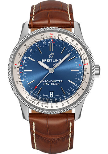 Breitling Watches - Navitimer Automatic 38mm - Stainless Steel - Croco Strap - Style No: A17325211C1P4