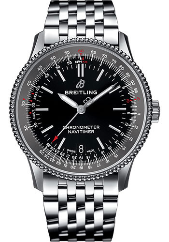 Breitling Watches - Navitimer Automatic 38mm - Stainless Steel - Navitimer Bracelet - Style No: A17325241B1A1