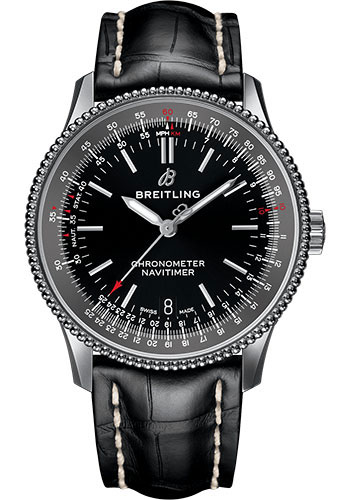 Breitling Watches - Navitimer Automatic 38mm - Stainless Steel - Croco Strap - Style No: A17325241B1P1