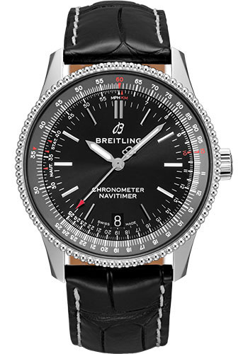Breitling Watches - Navitimer Automatic 38mm - Stainless Steel - Croco Strap - Style No: A17325241B1P2
