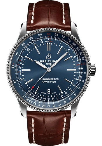 Breitling Watches - Navitimer Automatic 41mm - Stainless Steel - Croco Strap - Tang - Style No: A17326161C1P1