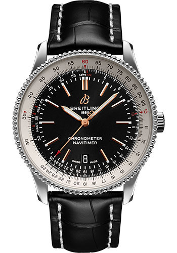 Breitling Watches - Navitimer Automatic 41mm - Stainless Steel - Croco Strap - Tang - Style No: A17326211B1P1