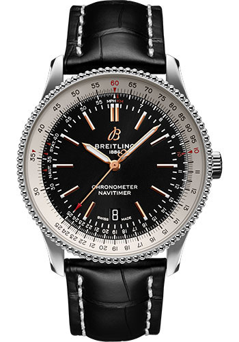 Breitling Watches - Navitimer Automatic 41mm - Stainless Steel - Croco Strap - Folding - Style No: A17326211B1P2