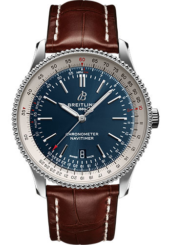 Breitling Watches - Navitimer Automatic 41mm - Stainless Steel - Croco Strap - Tang - Style No: A17326211C1P1