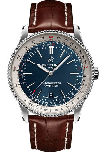 Breitling Watches - Navitimer Automatic 41mm - Stainless Steel - Croco Strap - Deployant - Style No: A17326211C1P2