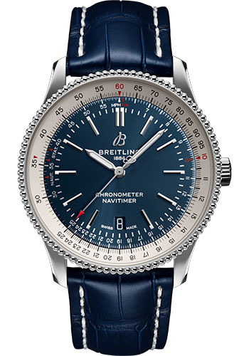 Breitling Watches - Navitimer Automatic 41mm - Stainless Steel - Croco Strap - Tang - Style No: A17326211C1P3